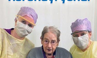 101 yaşındaki kadın koronadan kurtuldu